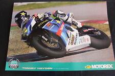 Poster Team Rockstar Makita Suzuki GSX-R 1000 2010 #22 Tommy Hayden (USA) (HW)