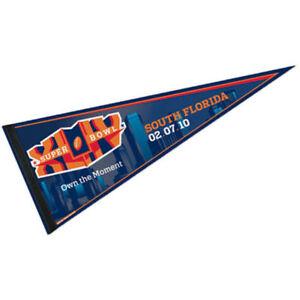 Super Bowl XLIV Pennant Flag