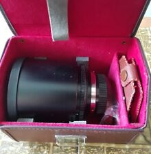 Konica AR fit 500mm f8 Tokina RMC Multi Coated mirror lens, case, filters, VGC