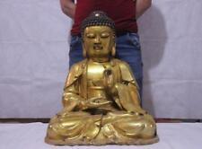 Tibetan Buddhism Bronze copper Gilt Tathagata Sakyamuni Amitabha Buddha Statue