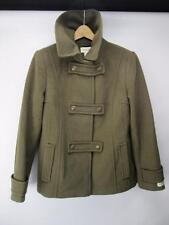 St. Johns Bay Wool Cashmere Car Coat Wool Waist Coat Green Med NWOT