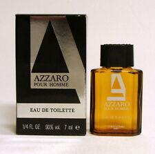 AZZARO FOR MEN EAU DE TOILETTE 7 ML. 1/4 FL.OZ. MINI PERFUME NEW IN BOX
