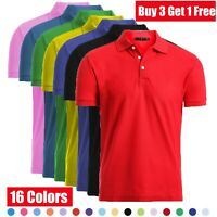 Men's Dri-Fit Causal Cotton Polo Shirt Jersey Short Sleeve Sport Causal Golf T