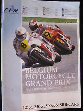 Program Belgium Motorcycle Grand Prix Spa-Francorchamps 2 July 1989 (TTC)