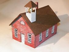 HO Scale One Room Schoolhouse Kit