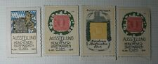 Munich Bavarian Germany Stamp Club Expo Philatelic Souvenir Ad Label