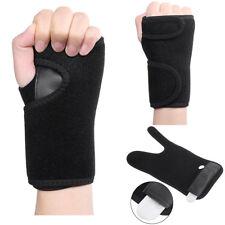 sport Wrist Support Hand Brace Band Carpal Tunnel Splint Arthritis Sprains Black