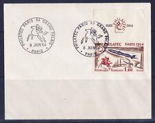 enveloppe   rallye    PHILATEC  1964    Paris   non illustrée