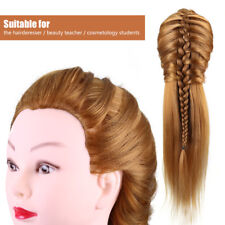 40% Real Human Hair Mannequin Head Hairdresser Training Head Cosmetology Doll gw