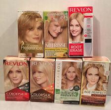 Lot of 7 different Hair Dye, Loreal, Clairol, Garnier, Revlon, Blond Hair Color
