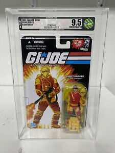 GI Joe Comic Series Flamethrower AFA Graded 9.5 Uncirculated Hasbro 2009