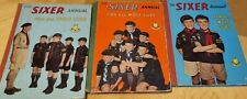 More details for the sixer annual for all wolf cubs vintage boys club hardback book bundle