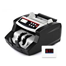 AUTOMATIC DIGITAL CASH BANKNOTE MONEY COUNTING BILL COUNTER MACHINE + 2nd LCD