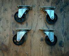 Modern style cast iron Industrial furniture castors swivel caster black wheels