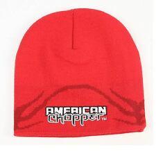 American Chopper Beanie, Red, Adult, Unisex fit