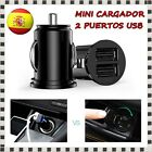CARGADOR DE COCHE 2 PUERTOS USB DOBLE CAR CHARGER MOVIL MECHERO SAMSUNG IPHONE 6