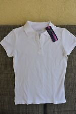 *New* Girls Cherokee White Polo Shirt Ultimate School Uniform Size Large 10/12