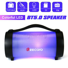 Portable Wireless Speaker LED Lighting Super Bass bluetooth AUX TF Slot FM Radio