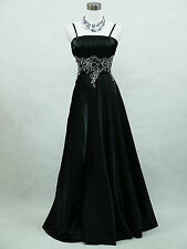 Cherlone Black Ballgown Prom Bridesmaid Formal Wedding/Evening Dress Size 18-20