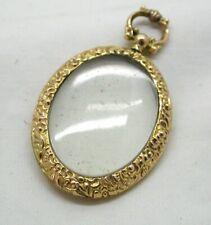 Beautiful Antique 9 carat Gold Double Sided Glazed Locket Pendant