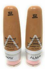 Almay Best Blend Forever Foundation Makeup 160 - Sand Beige 1 Oz - Lot of 2