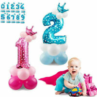 0~9 shower Decor Number Foil Balloons Giant Digit Helium Birthday Party Baby