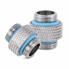 2pc Male to Male Coupling Adapter Extender Fitting G1/4 Thread For Water Cooling