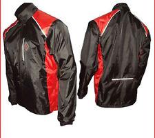 Abbigliamento rosso impermeabile per ciclismo Uomo
