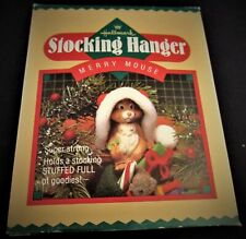 1985 Hallmark Stocking Hanger ~ Merry Mouse ~ Mint
