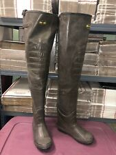 Pro Line Rubber Hip Boot Waders Size 11 Men's 100% Waterproof Used see!!