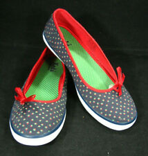 Womens Keds Blue With Strawberries Red Bow Front Shoes Size 8 M