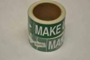 (2) Rolls Seton MSI Pipe Marker Labels Makeup Water Green Steam Punk FAST! D3