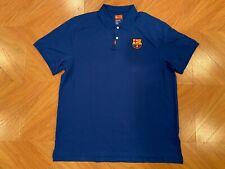 Rare NWT Nike FC Barcelona FCB The Nike Polo Blue Shirt Men's XL AT4329-485