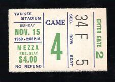 November 15, 1959 New York Giants Vs Pittsburgh Steelers Ticket Stub 14-9 Pitt