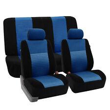 Mesh Car Seat Covers Front Rear Full Set For Sedan Car SUV Van Blue Black