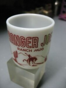 RANGER  JOE  RANCH  MUG  MILK  GLASS  VINTAGE  ORIGINAL   VERY  NICE