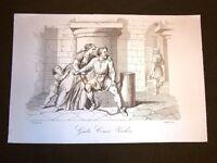Incisione rame del 1851 Giulio Cesare Vachero di Sospello per i Savoia a Genova
