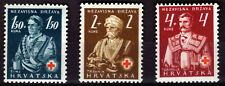 Croatia -  Scott #B3 to 5 -Semi-Postal  Costumes  MNH