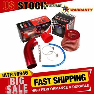 """Car Air Intake Kit Diameter 3"""" Pipe+Cold Air Intake Filter+Clamp+Accessories US"""