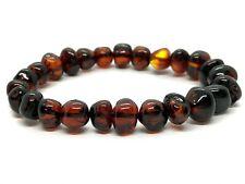 Amber BRACELET CHERRY Natural Baltic Amber Beads Handmade Jewelry 10,8g 13244