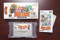 Super Famicom SFC Super Mario RPG boxed Japan import SNES game US Seller