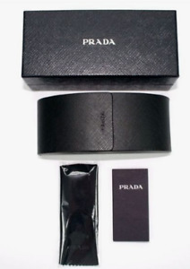Brand new Prada Sunglasses hard case eyeglasses with clean cloth