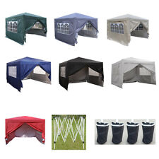 3mx3m Waterproof Pop Up Gazebo Garden Wedding Party Tent with Sides Carry Bag