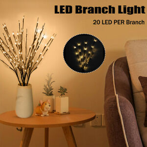 2*20 LED Xmas Willow Branch Floral Lights Lamp Merry Christmas Tree Decorations
