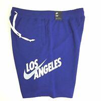 Nike Mens Blue Los Angeles Dodgers CQ7220-455 Activewear Alumni Shorts Size XXL