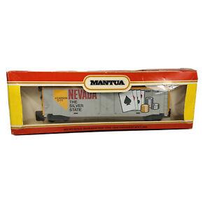 Vintage HO Mantua Nevada Commemorative State 50' Box Car MMP 711-36 Billboard