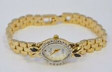 W571- ELGIN Ladies Diamond Quartz Sapphire Watch  EPS32