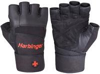 Harbinger 140 Pro Wrist Wrap Glove Back All sizes, S, M, L XL,XXL