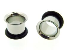 "PAIR OF 1/2 "" 13MM single flare TUNNELS plug body jewelry plugs GAUGES"