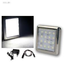 1er Set LED Chrom-Unterbaustrahler 16 LEDs kalt-weiß, mit Trafo, Aufbaustrahler